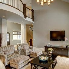 Traditional Living Room by Rockwood Custom Homes