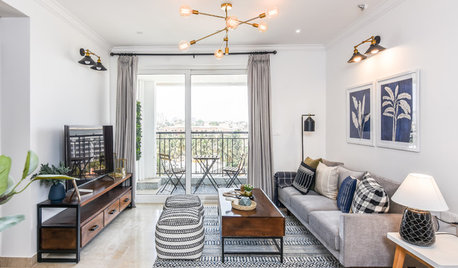 Houzz Tour: A Small City Flat is Given a Space-enhancing Makeover