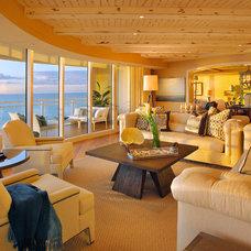 Contemporary Living Room California Coastal in Naples Florida