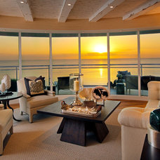 Contemporary Living Room California Coastal in Naples Florida