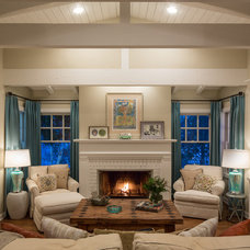 Traditional Living Room by Shannon Ggem ASID