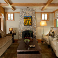 Craftsman Living Room by Alison Whittaker Design, Inc.