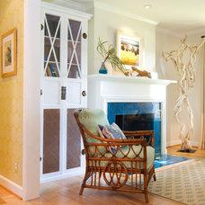 Beach Style Living Room by Charmean Neithart Interiors, LLC.