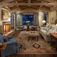Rustic Living Room by Gray & Walter, Ltd.