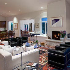 Contemporary Living Room by Winston Brock Chappell Inc