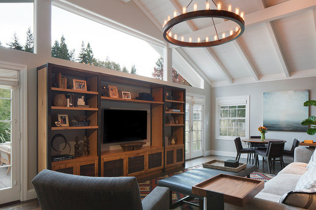 Contemporary Living Room by LMB Interiors