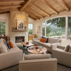Mediterranean Family Room by Giffin & Crane General Contractors, Inc.