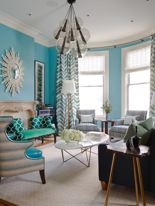 Turquoise Living Room Home Design Ideas Pictures Remodel