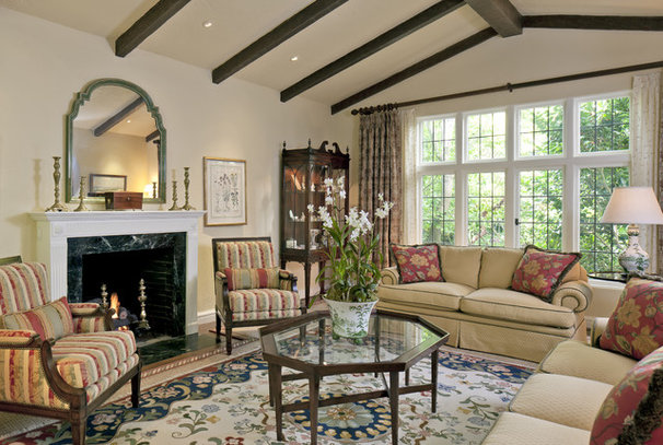 Traditional Living Room by Custom Kitchens by John Wilkins Inc