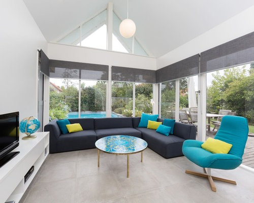 yellow gray turquoise living room | houzz