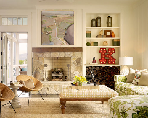 10 Best Farmhouse Carpeted Living Room Ideas & Photos | Houzz