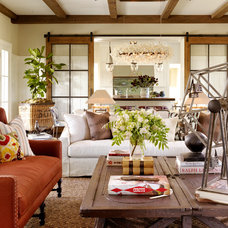 Farmhouse Living Room by TOTAL CONCEPTS