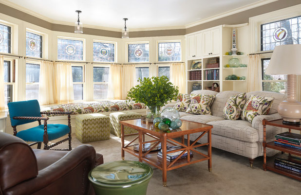 Traditional Living Room by Charles R. Myer & Partners, Ltd.
