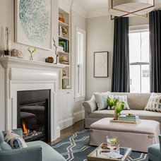 Transitional Living Room by Lovejoy Designs