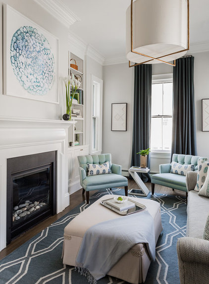 Transitional Living Room by Lori Schouela Artist