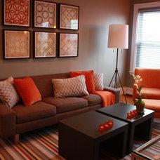 Contemporary Living Room by O'Sullivan Interiors