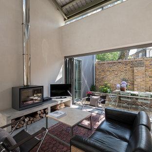 Industrial living room in London.