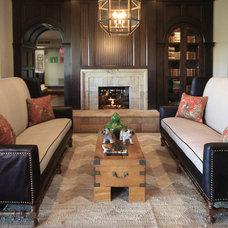Traditional Living Room by H. Ryan Studio