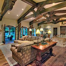 Mediterranean Living Room by Hendricks Construction
