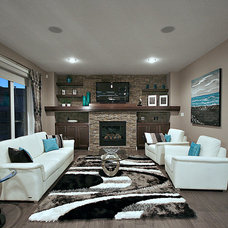 Contemporary Living Room by Rococo Homes Inc