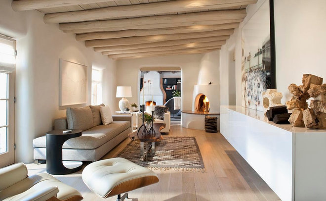 Mediterranean Living Room by R Brant Design