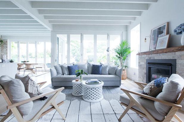 Coastal Living Room by Studio 1 Interiors