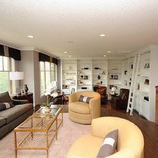 Contemporary Family Room by Marie Hebson's interiorsBYDESIGN Inc.
