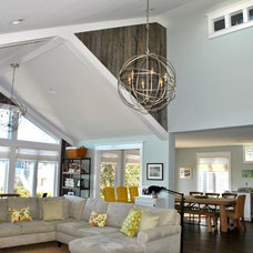 Traditional Living Room by Marnie Custom Homes