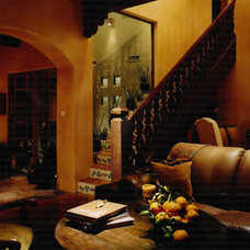 Mediterranean Living Room by Candelaria Design Associates