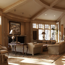 Traditional Living Room by SKD Architects
