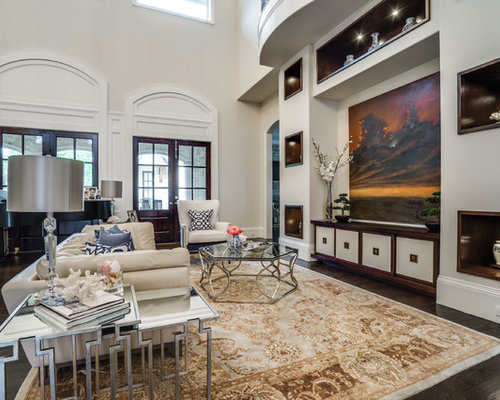 living room remodel ideas. Inspiration for a timeless open concept dark wood floor and brown living  room remodel in 15 Best Traditional Living Room Ideas Designs Houzz