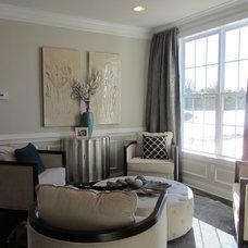 Contemporary Living Room by Helen Piteo Interiors, LLC