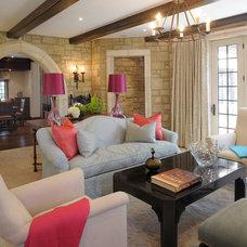 Transitional Living Room by Slifer Designs
