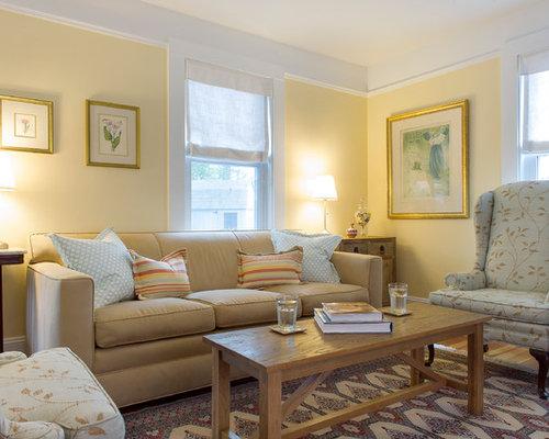 Yellow Living Room | Houzz