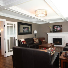 Traditional Living Room by Sarah Gallop Design Inc.