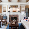 What Goes With a Redbrick Fireplace?