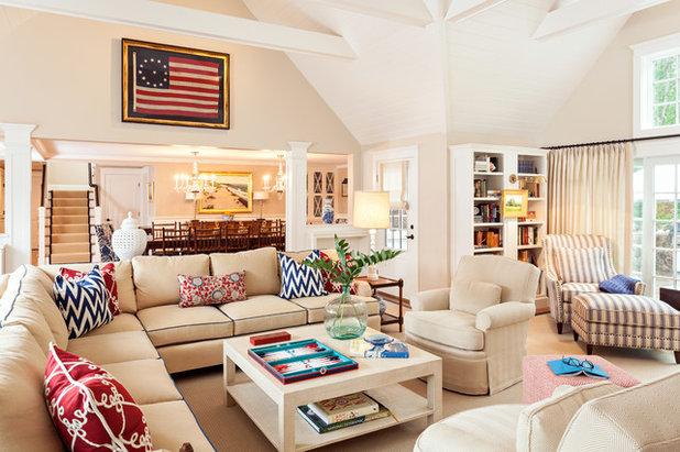 Beach Style Living Room by Violandi + Warner Interiors