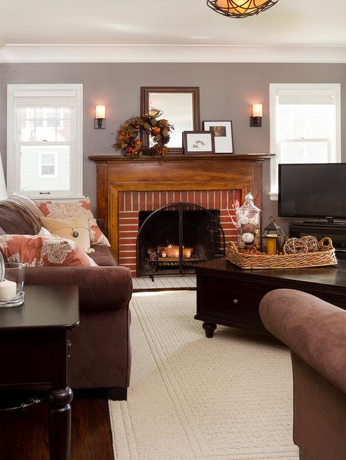 Red Brick Fireplace WallHouzz