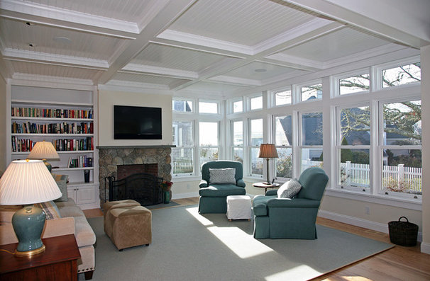 Traditional Living Room by Carl C. Oldenburg AIA