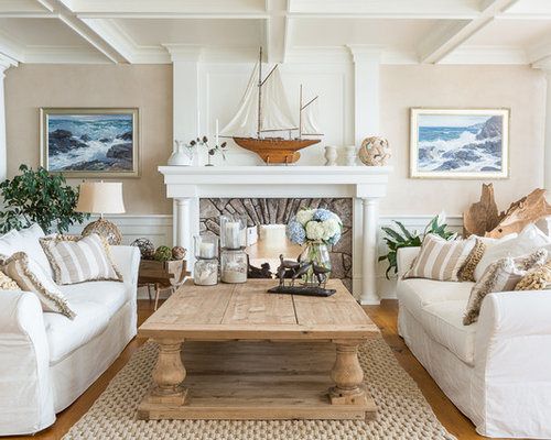 Sand colored walls home design ideas pictures remodel and decor - Beach style living room ...