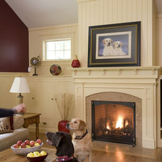 Traditional Living Room by Howell Custom Building Group