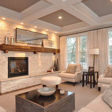 Traditional Living Room by Capital City Builders