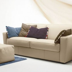Capri Sofa with Bed - Please contact IQmatics at 847.885.3600 for detailed information. Leather sectional and sofa manufactured in Italy. Can be made in various leather and configuration.