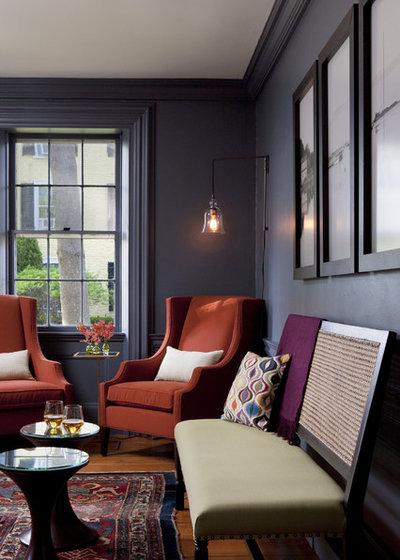 Transitional Living Room by Rachel Reider Interiors