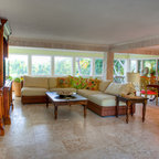 Captiva Bayside Residence Tropical Dining Room Tampa