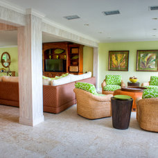 Tropical Living Room by GH3 Enterprises LLC