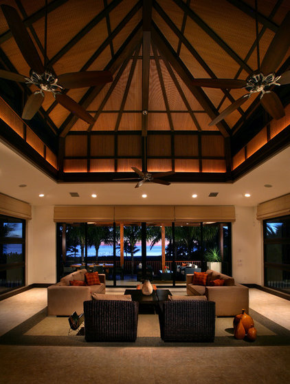 Tropical Living Room by K2 Design