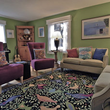 Eclectic Living Room by Brenda Olde