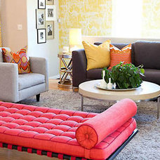 Eclectic Living Room by Lilium Designs