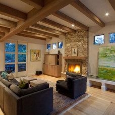 Contemporary Living Room by Lehman Design Studio
